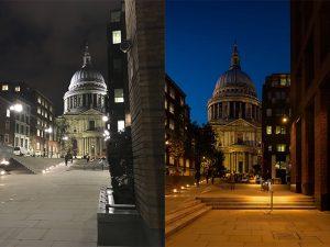 Исследования освещения в Лондоне